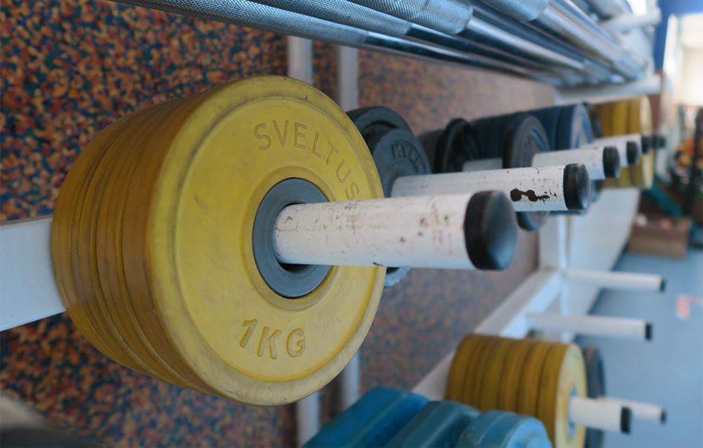 Pesas de 1kg del polideportivo