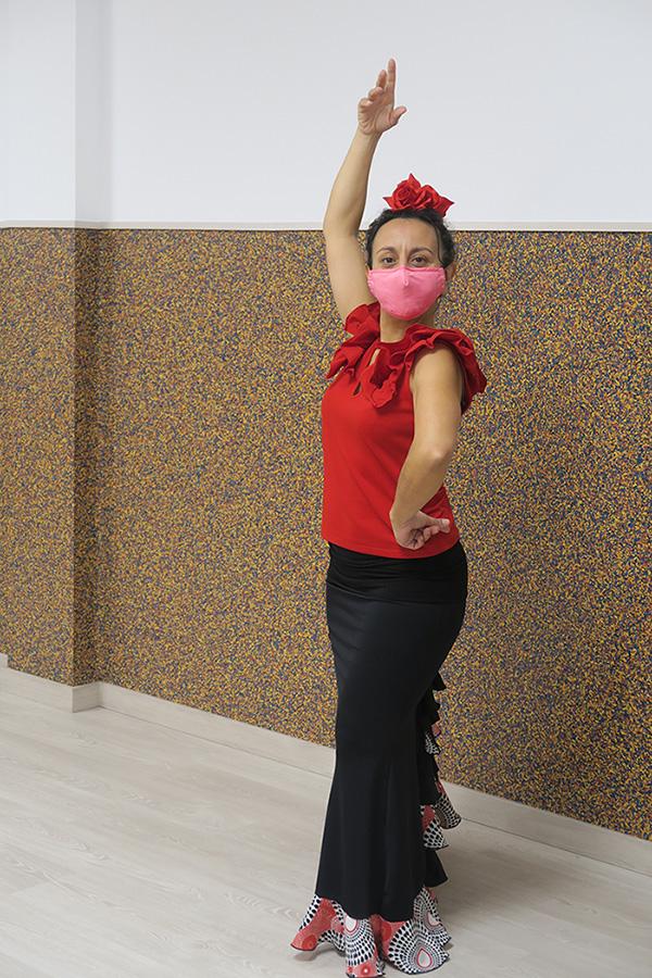 Profesora de baile de flamenco